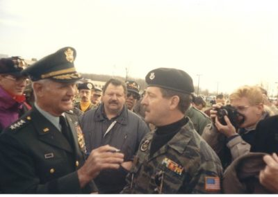 General William Westmoreland speaking to Mike Sand