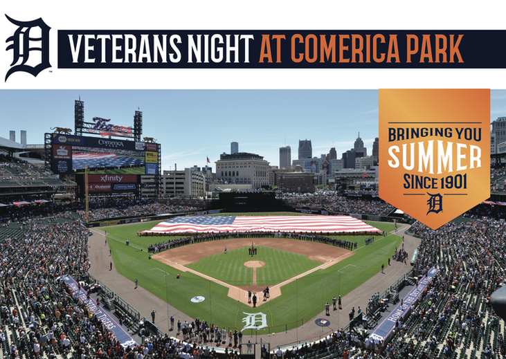 VETERANS NIGHT COMERICA PARK JUNE 25