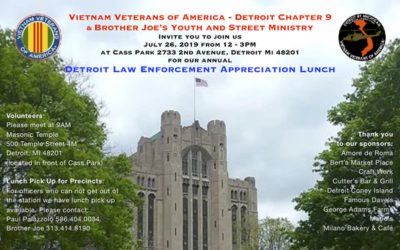 DETROIT LAW ENFORCEMENT APPRECIATION LUNCH JULY 26