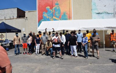 VVA#9 Teams up for food giveaway.